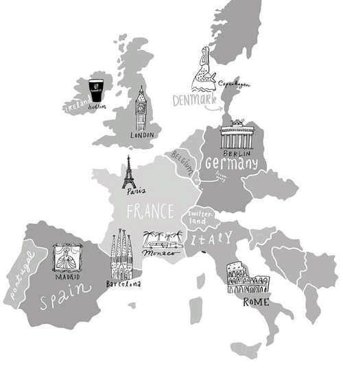 GermanyItalySpainFranceLondonDenmarkmaptravel – Germany Denmark Map