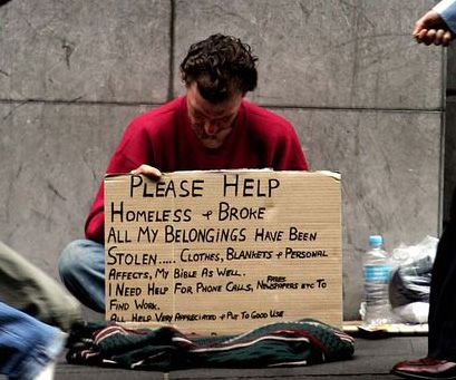 Essay on a homeless person. Please help ?