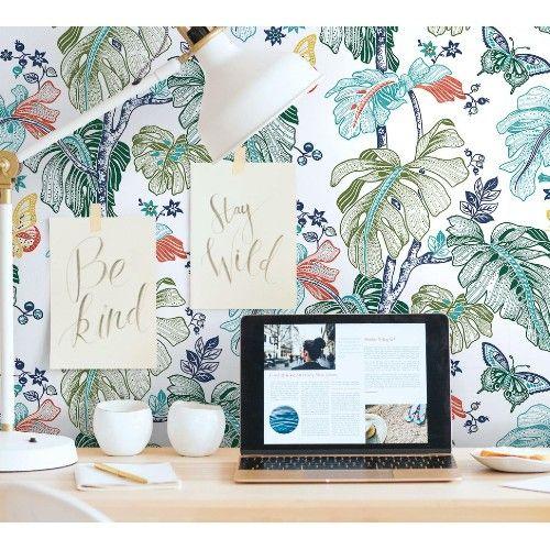 Boho Palm Peel And Stick Wallpaper By York Lelands Wallpaper Wallpaper Roll Peel And Stick Wallpaper Wallpaper