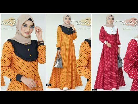 38 Model Baju Gamis Original Branded Terbaru Tahun 2020 2021 Youtube Gaun Lengan Panjang Model Muslim