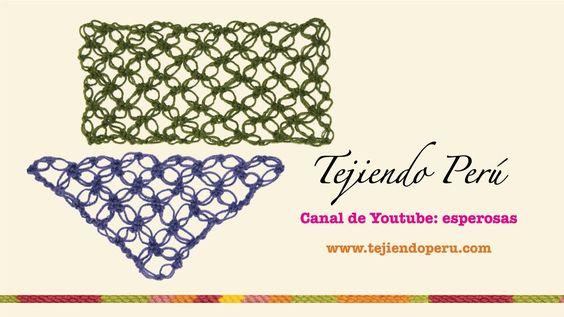 Nudo salomón en crochet (tejido recto y en triángulo)
