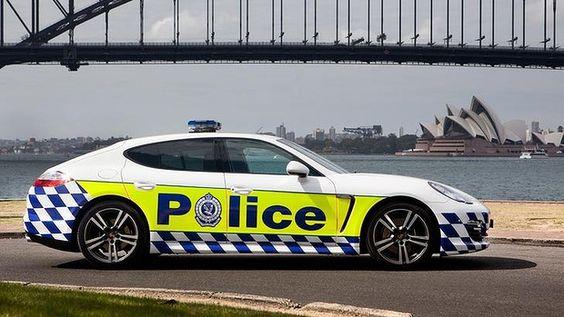 NSW Police Porsche Panamera.