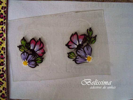 Venha conferir o Post Novo no BLOG Compre já: http://belissimanailarts.loja2.com.br/ Adesivos para Unhas - Belíssima: Modelo U-46
