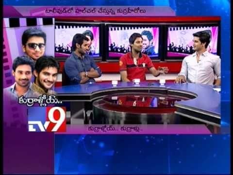 Actors Nikhil, Varun Sandesh and Adi in Tv9 Studio - Part 4