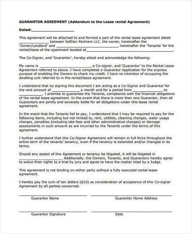 Rental Guarantor Agreement Form Resume Template Free Good Essay Sample Resume