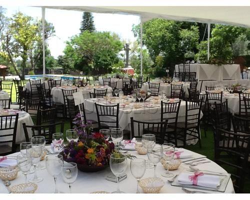 Montaje tiffany muy elegante hacienda obrajuelo jard n for Boda en jardin decoracion