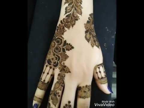 جمال وروعه نقش الحناء للمناسبات الجميله Youtube Hand Henna Henna Hand Tattoo Henna