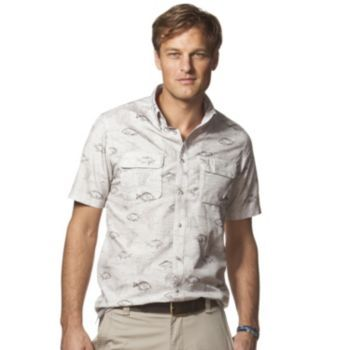 Men's+Chaps+Classic-Fit+Fish+Outdoor+Casual+Button-Down+Shirt