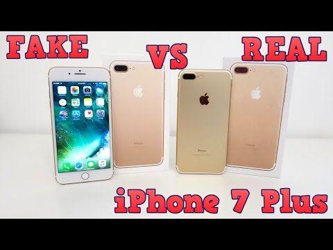 Fake Vs Real Iphone 7 Plus Buyers Beware 1 1 Clone Youtube Iphone Iphone 7 Plus Iphone 7