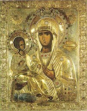 "Icon of the Mother of God ""Of the Three Hands,"" 9th century"