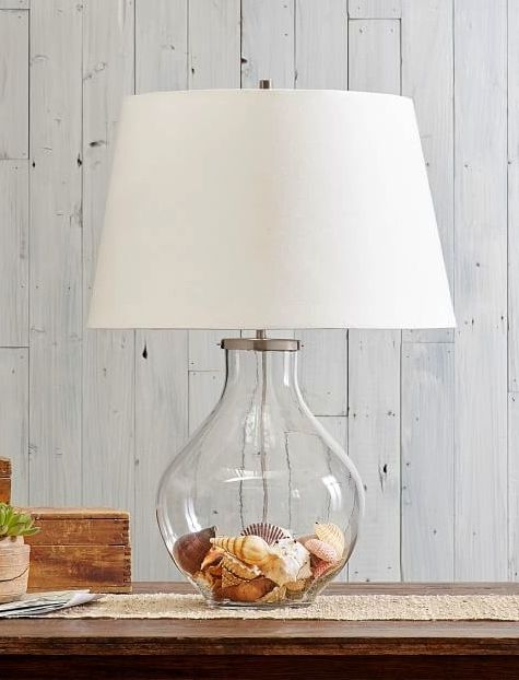 Fillable Glass Table Lamps Beach Shell Jar Lamps More Table Lamp Base Table Lamp Glass Table Lamp