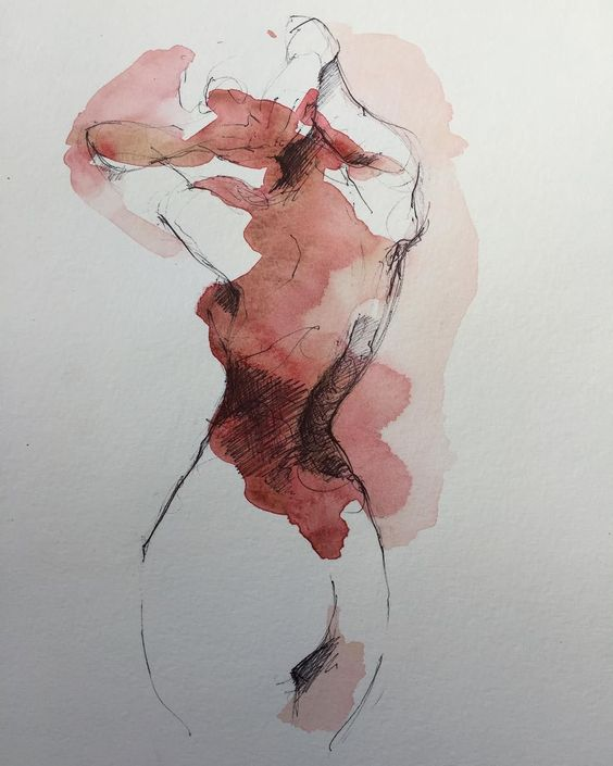 Florent Leclercq (@fuzzz_yy.art) #watercolor #paint