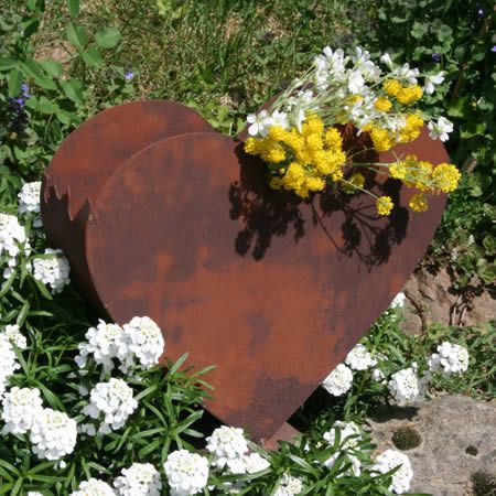 Metall herz zum bepflanzen edel rost rostdeko pinterest for Gartendeko zum bepflanzen