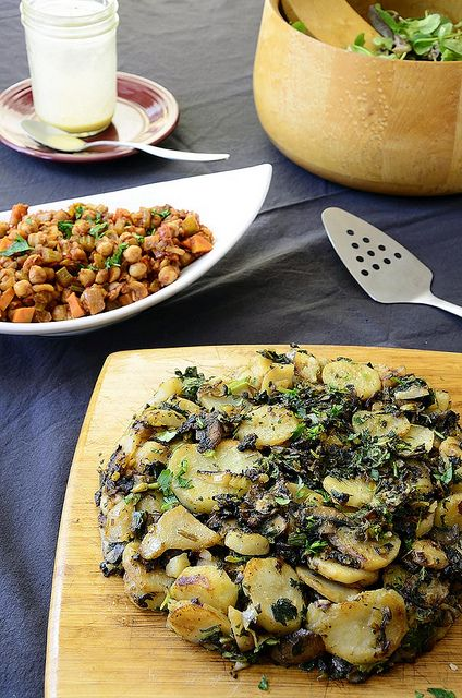 Mushroom cake, Chickpeas and Mushrooms on Pinterest