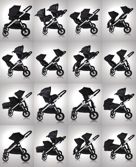 The Baby Jogger, City Select - possible arrangements up to 3 kids.