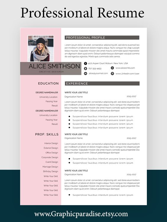 Google Docs Resume Template Clean Resume Template And Cv Design With Green Motifs Resume Template Professional Resume Template Simple Resume Template