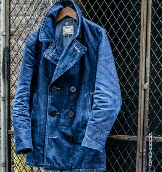 Denim Peacoat- Schott