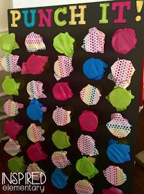 Punch it!  Classroom management and behavior incentive idea