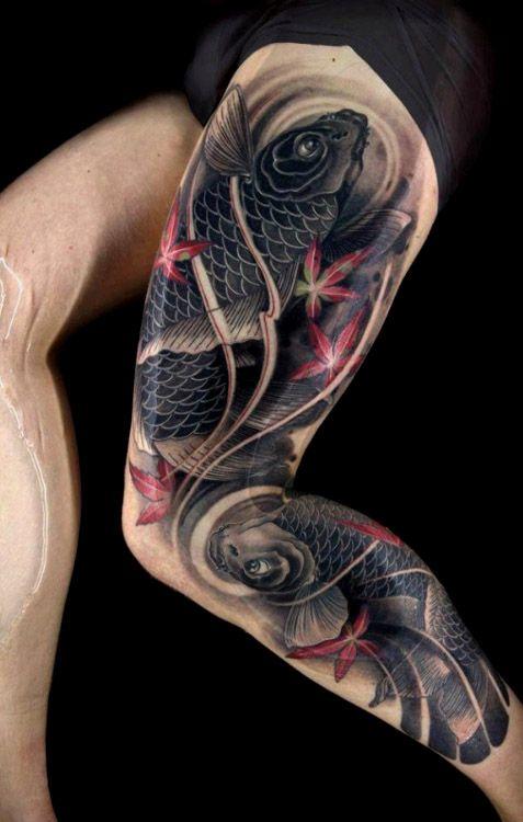 Koi Leg Tattoo : tattoo, Sleeve, Tattoo, Designs, Women, (2021), Design,, Sleeve,, Tattoos