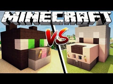 Cat House Vs Dog House Minecraft Dog House Cat House