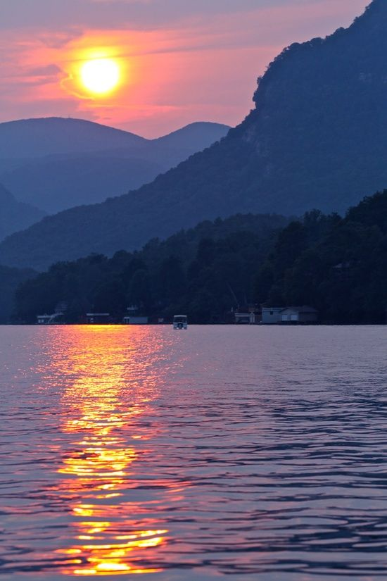 Lake Lure -Chimney Rock is just above the Lake.