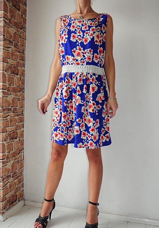 Atmosphere Sukienka Niebieska Kwiaty 44 46 Vinted Dresses Summer Dresses Fashion