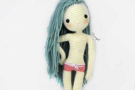 "♥ Pattern only, not a finished product ♥  This is a PDF pattern for a crochet doll amigurumi ♦ Finished size approximately 12"" tall  { Skill Level }"