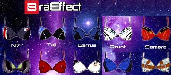"Geek Fashion: ""Bra Effect"" Mass Effect Character Inspired Bras"