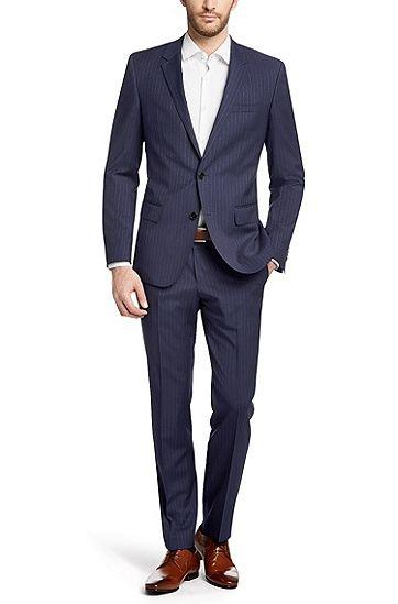 slim fit anzug huge3 genius2 aus schurwolle blau suit. Black Bedroom Furniture Sets. Home Design Ideas