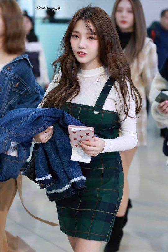 Kpop Fromis9 Jisun Kpop Outfits Korean Airport Fashion Kpop Girls
