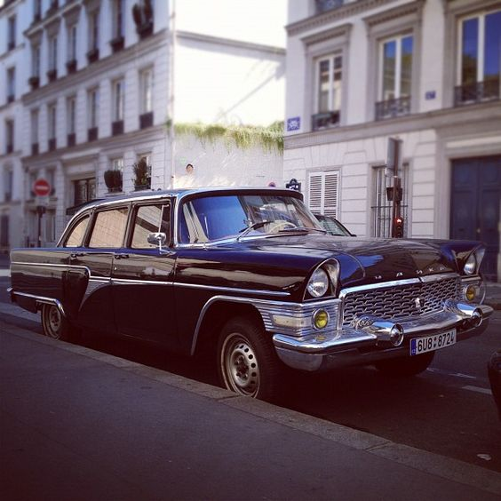 This 1965 Russian Chaika GAZ strongly resembles a 1955 American Packard. Photo by simaoc • Instagram