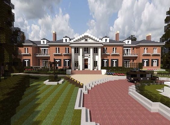 Realistic Minecraft Mansion  When I first saw this in a quick glance I thought it was real, but got duped.  If you came across this house what do you think would be inside?  Me: Nothing just a big open space.