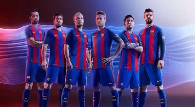 Acheter Maillot de foot pas cher 2016 2017: Nouveau Maillot de foot Barcelone pour la saison 2016/2017: