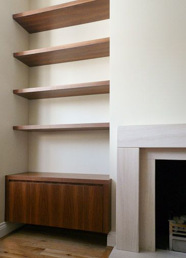 I need shelves in the family room Alcove. I like these