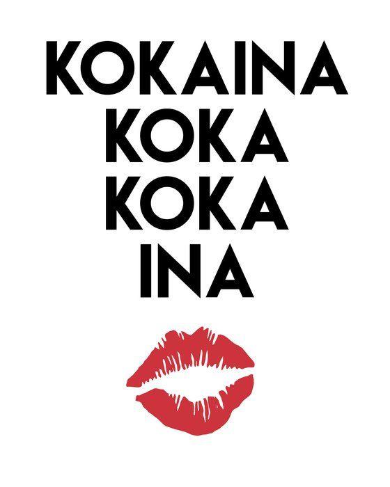 Kokaina Koka Koka Ina Miami Yacine Lyrics Coffee Mug By Deificus