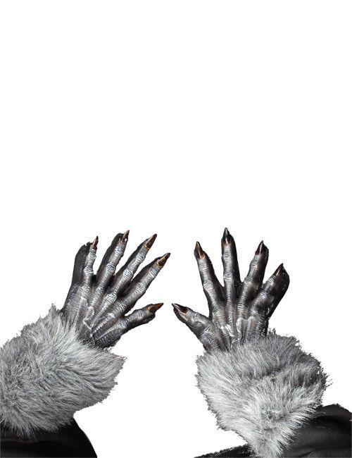 Halloween Werwolf Handschuhe grau - Artikelnummer: 487300000 - ab 9.99 EURO - bei www.racheshop.de!