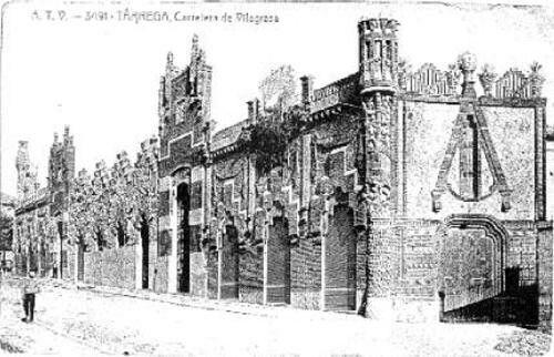 1910. Tàrrega. Carretera Vilagrassa