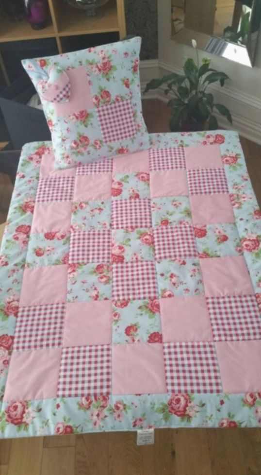 Gift For Girls Kids Diy Beautiful Handmade Baby Girl Quilt Ideal