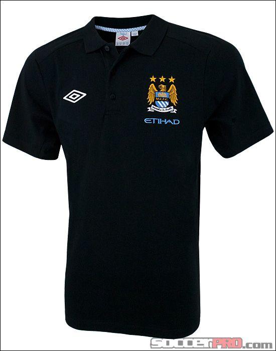Umbro Manchester City Polo - Black with Vista Blue $40.49