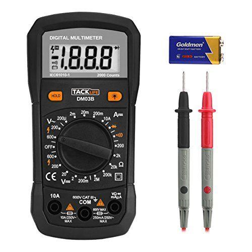 Multímetro Digital Tacklife Dm05 Polimetro 6000 Counts Manual Automático De Dos Modos De Medición Mini Multímetro Portátil Voli Multimeter Diode Electricity