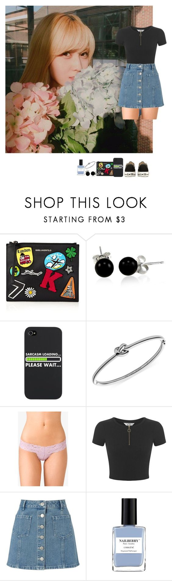 """""""Untitled #386"""" by andre-amj ❤ liked on Polyvore featuring beauty, Karl Lagerfeld, Bling Jewelry, Michael Kors, Forever 21, Miss Selfridge, Nailberry and Converse"""