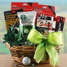 raffle basket ideas for men - golf basket