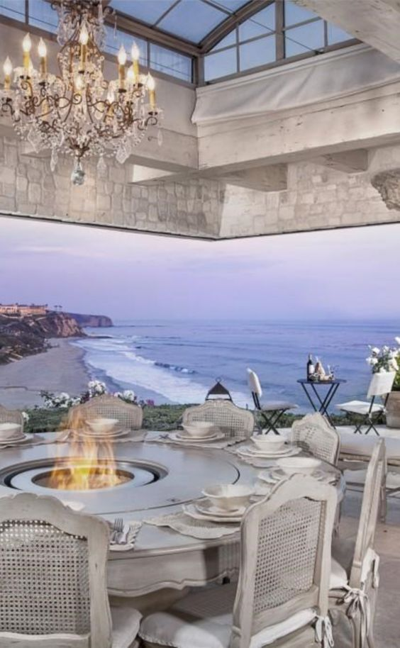 Dining Room with a view of Salt Creek Beach and Ritz Carlton in Dana Point, California: