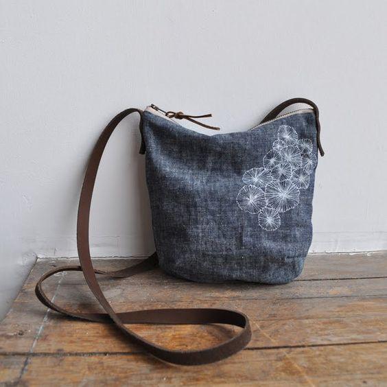 Decoración de un bolso con hilos de bordar, ¡delicado!