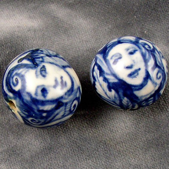 Beautiful Ceramic Beads!#form, #decorativetechnique