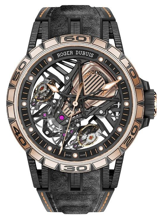 Roger Dubuis Excalibur Aventador S with 18k Red Gold Bezel
