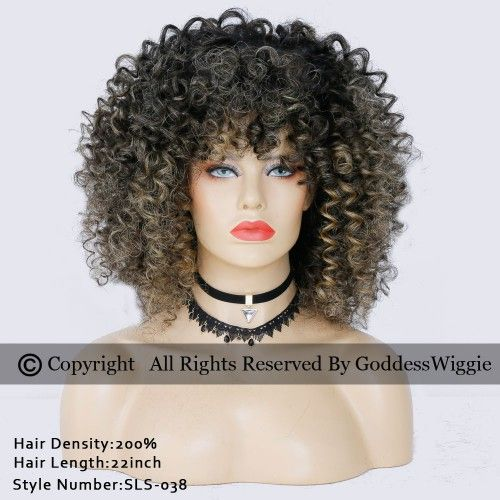 Human Hair Curly Lace Front Wigs Balayage Hairstyle