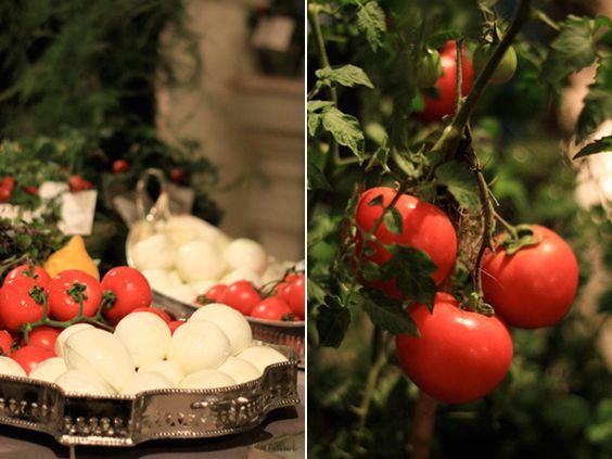 arranjo com legumes para mesa anti pasto