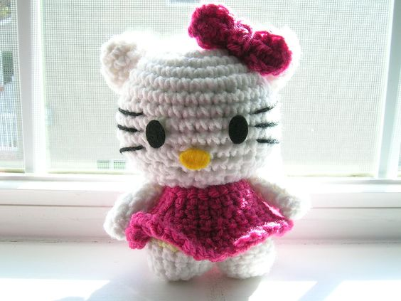 How To Crochet Hello Kitty Bag By Marifu6a Free Pattern Tutorial : crochet, my little pony hat pattern, free FREE HELLO ...
