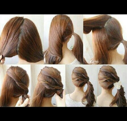 Side twist ponytail